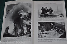 1941 magazine article about EVERYDAY LIFE IN WARTIME ENGLAND, WWII Home Front