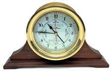 Vintage Used Seth Thomas Quartz Clock Tide Brass Maritime Parts Jeco Quartz