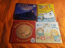 Lot of 4 Hb Picture Books ~ Roly Poly Pangolin, Dog's Colorful Day, Three Kitten