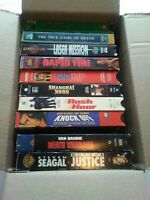 Lot of 10 VHS tapes,Lee,Norris, Chan,Van Damme and more, untested (vhs6)
