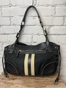 Prada Shoulder Semitracolla Web Stripe Tan Nylon and Leather Bag