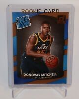 DONOVAN MITCHELL $60++ JAZZ RATED ROOKIE CARD #188 RC SP 2017-18 DONRUSS