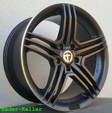 "4x Tomason TN5 8,5x18"" 5x112 ET40 ML72,6 Gunmetal rim polished Audi Seat Skod VW"