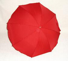 ROT   UV 50 + Sonnenschirm SCHIRM QUICK-OFF Schirmchen OVAL + RUND Rohr