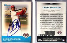 Chris Marrero Signed 2010 Bowman #TP73 Card Washington Nationals Auto Autograph