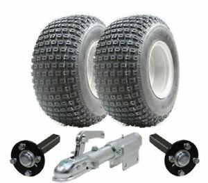 ATV trailer kit - Quad trailer - Wanda wheels + hub & stub + swivel hitch, 200kg