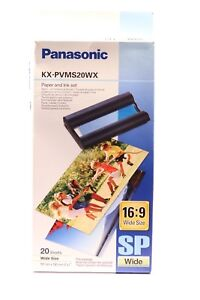 PANASONIC KX-PVMS20WX PAPER AND INK SET 16:9 WIDE SIZE 20 WIDE SHEETS
