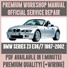 WORKSHOP MANUAL SERVICE & REPAIR GUIDE for BMW Z3 E36/7 1997-2002 +WIRING