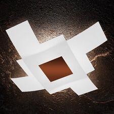 Plafoniera in vetro bianca e ruggine moderna a 4 luci tpl 1121/95-CO