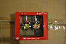 The Grinch & Max (2 Piece Set) Hallmark Blown Glass Christmas Ornaments Set NIB