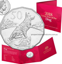 2018 Fifty Cent (50c) Year of the Dog Tetra-Decagon Australian UNC coin