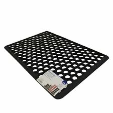 Entrance Door Mat Outdoor Use Outside House 100% Rubber 36 x 61cm Robusta Black