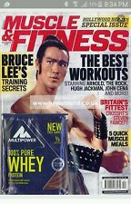 Bruce lee, muscle and fitness magazine .Dec 2015 new +Sealed ,2 available .
