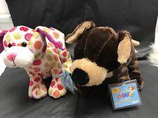 2 Webkinz Puppies New w/Sealed Codes -MOCHA PUP HM348 & LOLLIPOP PUP HM5117