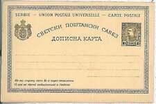 SERBIA - Postal Stationery HIGGINGS & GAGE # 19 THIN STOCK