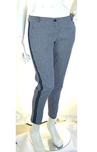 Pantaloni Donna RISSKIO Made in Italy LU367 Affusolato Blu Tg S