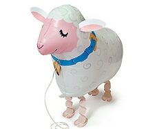 LAMB WALKING BALLOON FOIL HELIUM PET BIRTHDAY AIRWALKER SHEEP cow FARM ZOO AIR