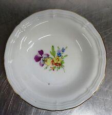 Ältere kleine Hoechst Porzellan Schale Blumen Motiv Schälchen Höchst