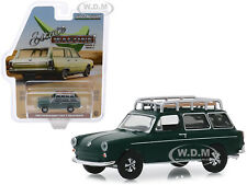 1969 VOLKSWAGEN TYPE 3 SQUAREBACK DARK GREEN 1/64 DIECAST CAR GREENLIGHT 29970 B