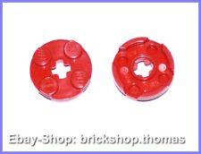 Lego 2 x Platte rund rot - 4032 - Plate Round 2 x 2 Axle Hole Red - NEU / NEW