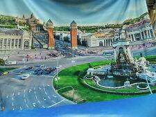 """tela de Vestido Jersey """"Barcelona"""" Impresión digital BW Tejido Mezcla Multicolor"""