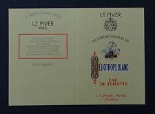 Ancienne carte parfumée calendrier 1994 HELIOTROPE BLANC LT PIVER PARIS Angers