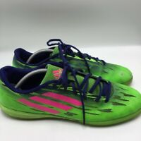 Adidas Mens Athletic Shoes Green Pink Blue Lace Up Low Top Trainers Sneakers 11