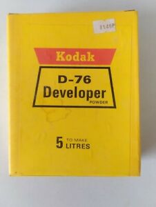 Vintage Darkroom Kodak D-76 Black and White Film Developer Powder 5 Litre D76