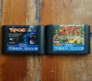 Lot of 2 fighting games for Sega Mega Drive Paws of Fury and Primal Rage PAL