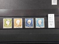 Island Posten aus Michel 63-71 gestempelt