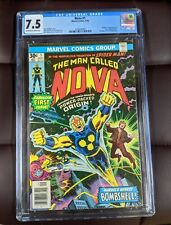 Nova #1 CGC 7.5 - 1st App. of Nova Richard Rider, Newsstand
