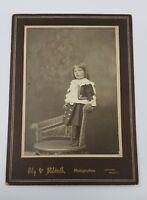 Antique early 1900's photograph portrait sweet  little girl