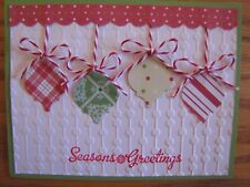 Seasons Greeting hanging Bobbles Christmas Handmade Card Kit (4) Some Stampin Up