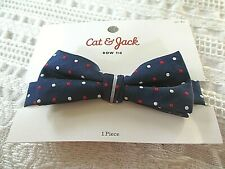 Nwt-Boys, Cat & Jack,Navy with Red&White Polka Dots Adjustable Bow Tie- 5 years+