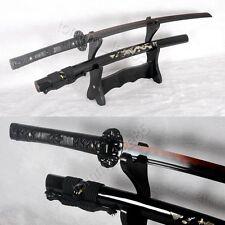 Damascus Steel Clay Tempered Katana Full Tang Japanese Sword Razor Sharp Blade