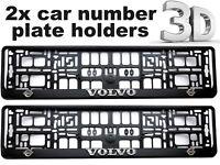 2 x 3D CAR Number Plate Surround Holder Frames BEST FIT for VOLVO