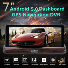 "7"" Dual Lens HD 1080P Car DVR Dash Cam GPS Nav 3G WIFI Drving Camera Recorder"