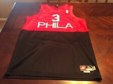 Allen Iverson Philadelphia Jersey #3 All Embroidered Youth XL Nike