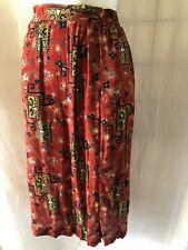 VTG Petite Sophisticate Womens A Line Skirt Rust Geometric Aztec Petites S