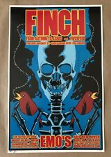 Finch @ Emo's Austin Texas January 21st 2003 Poster Brian Ewing Mint S/N 1st ed