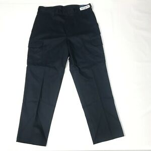 NEW Cintas Mens Work Dress Cargo Pants 270-20 Comfort Flex Navy Blue 46x32