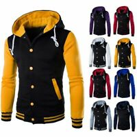 Men's Winter Hoodie Outwear Sweater Warm Coat Baseball Jacket Hooded Sweatshirt