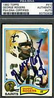 George Rogers Rookie 1982 Topps Signed Psa/dna Certified Authentic Autograph