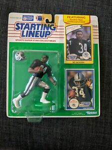 1990 Bo Jackson Raiders Starting Lineup Figure, Card, and 1987 Rookie Card