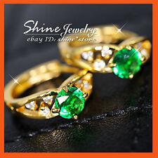 Unbranded Emerald Hoop Fashion Earrings