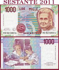 ITALIA  ITALY - 1.000 1000 Lire MONTESSORI Lettera C - 1993 -  P 114a -  FDS/UNC