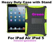 Green Durable Heavy Duty Strong Tradesman TPU Case Cover Stand for iPad Air