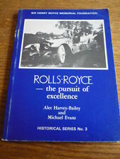 ROLLS ROYCE PURSUIT OF EXCELLENCE, CAR BOOK