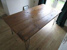Indoor/Outdoor Hairpin Leg Industrial Reclaimed wood Dining/Kitchen Table