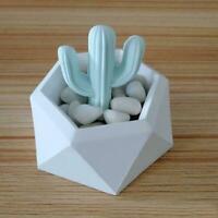 Hexagon Flower Pot Silicone Molds DIY Garden Planter Soap Mould Vase Concre O2Y9